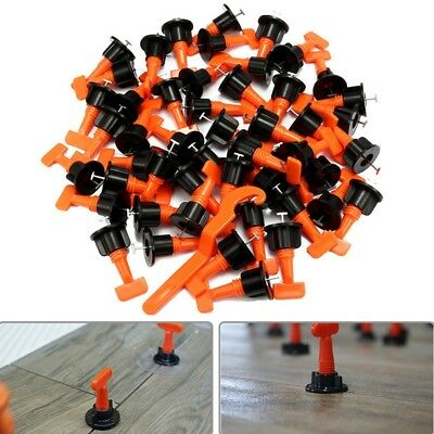 50Pcs Tile Leveling System Kit 1.6mm Space Reuse Wall Floor Clip A8P1