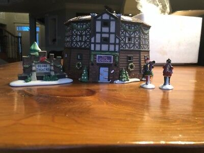 Dickens Village The Old Globe Theatre 58501 Set of 4 in MINT Condition
