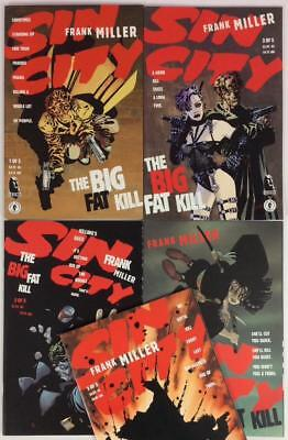 Sin City - Big Fat Kill #1 to #5 complete series (Dark Horse 1994) Hi grade.