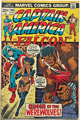 Captain America#164 Fn/vf 1973 First Nightshade Marvel Bronze Age Comics