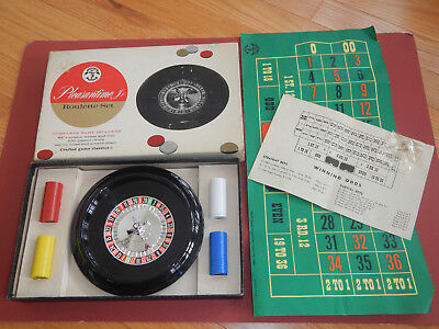 Vintage 1958 Pleasantime Jr ROULETTE GAME SET Wheel Pacific Gaming Co Complete