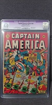 Captain America Comics 29 (8/43) (WWII Nazi cover by Schomburg)(CGC 4.0)