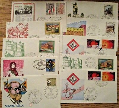 1960s & 70s Italy Lot of 84 Cachet Stamp Covers some duplicates included