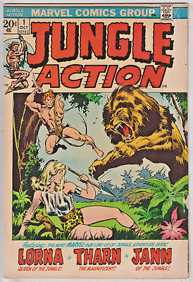 Jungle Action#1 Vg 1972 Marvel Bronze Age Comics