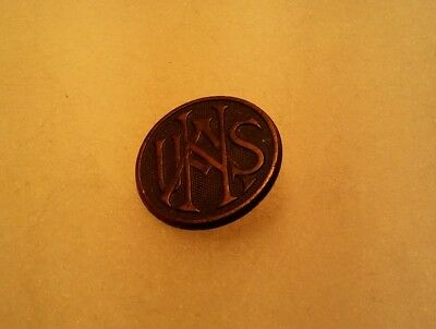 WW1 US National Army Military USNA Collar Disc Insignia Enlisted f