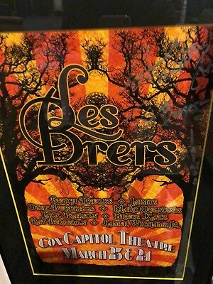 allman brothers poster LES BRERS VERY VERY RARE SIGNED BY ALL BAND MEMBERS