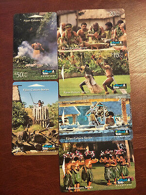Used Telecom Fiji Culture Series Phonecard Set