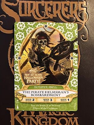 Disney Sorcerers of the Magic Kingdom Party Card Pirate Helmsman Halloween 05/P