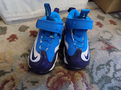 New Rare Baby Toddler Jordan Nike Air 24 Blue Teal High Top Sneakers Shoes Sz 3