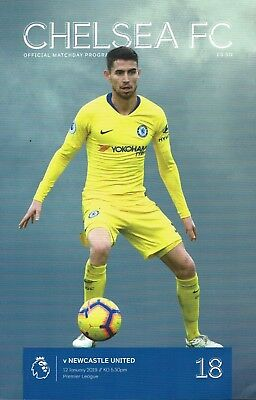 Chelsea v Newcastle United 12th January 2019 Official Match Programme 2018/2019