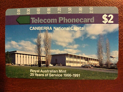 Mint $2 Royal Australian Mint Phonecard Prefix 92