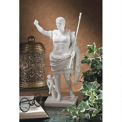 1st Century Commander in Chief of Roman Army Caesar Bonded Marble Sculpture