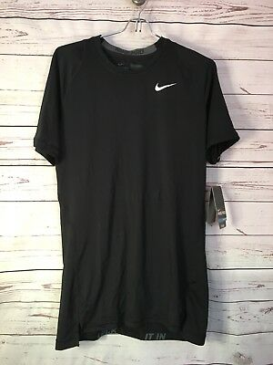 159cb9fd NEW BOYS NIKE Pro Shirt Cool Dri Fit Tee Black Fitted Swoosh Shirt ...