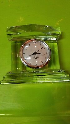 Gorgeous Lenox Monument Crystal Clock Original Tags Never Used
