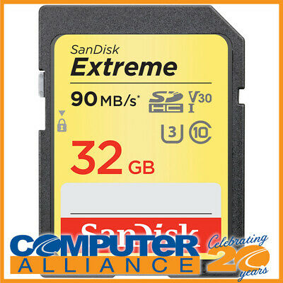 32GB Sandisk Class 10 Ultra Secure Digital (SDXC) Memory Card PN SDSDXVE-032G-GN