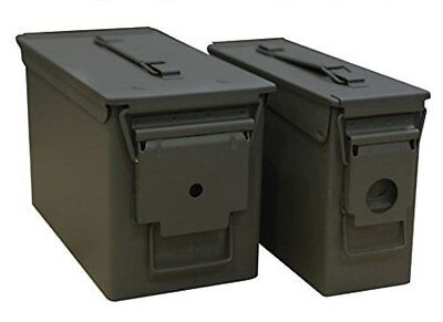 Heritage Security Products 30/50 Caliber Metal Ammo Cans Steel Military 2 Pack