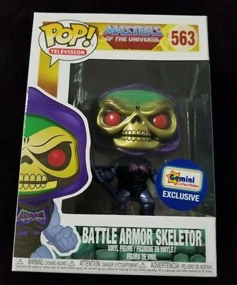 Funko Pop Masters of the Universe Battle Armor Skeletor Metallic (Gemini Ex)