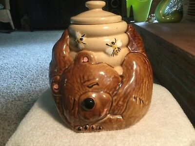Vintage McCoy Bear & Bees Honey Cookie Jar USA McCoy #143