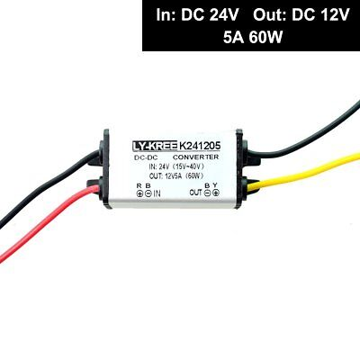 Truck 24v to Car 12v Step Down Converter 5A 60W High Power DC Voltage Changer