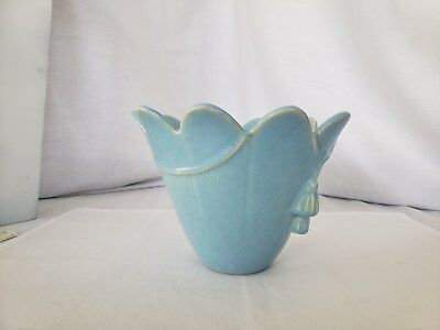 Vintage Weller Pottery blue flower pot
