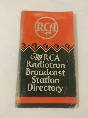 The RCA Radiotron Broadcast Station Directory 1929 Advertising Booklet