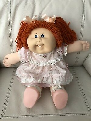 HTF HM19 (Head Mold 19) Coleco Cabbage Patch Girl With Red Hair In HTF Dress