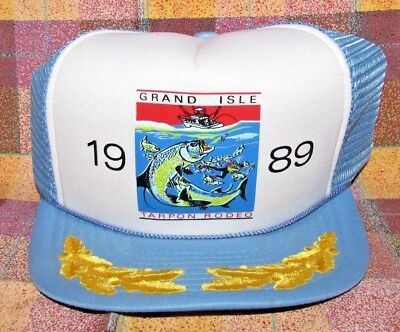 1989 International Tarpon Fishing Rodeo Grand Isle Baseball Cap