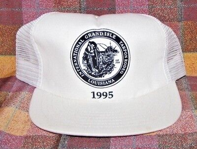 1995 International Tarpon Fishing Rodeo Grand Isle Baseball Cap