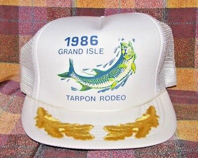 1986 International Tarpon Fishing Rodeo Grand Isle Baseball Cap