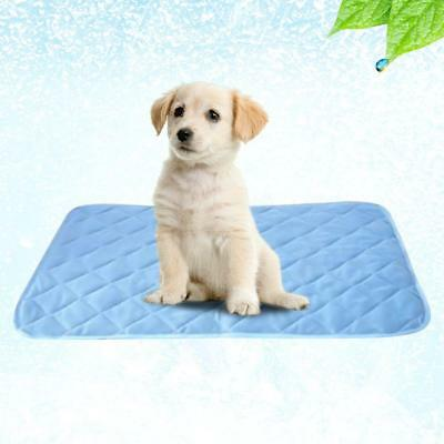 3 Sizes Pet Cool Cooling Gel Mat Dog Cat Bed Non-Toxic Dog Summer Pad FAST POST