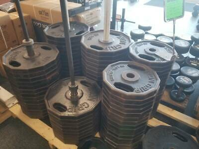 IRON GRIP OLYMPIC WEIGHTS - AMERICAN MADE 45 lb PLATE - 100's of lbs. AVAILABLE
