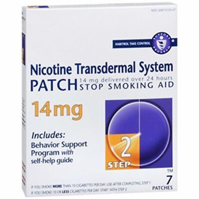 Habitrol Nicotine Transdermal System 7 Patches 14 mg Stop Smoking Aid, Step 2