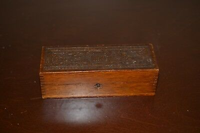 Vintage WHEELER & WILSON 1800s Wooden Oak Sewing Machine Attachments Box