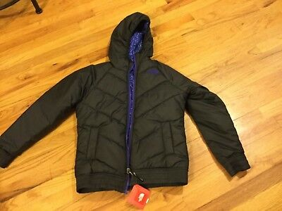 Girls The North Face reversible coat size L w/ hood new w/tags