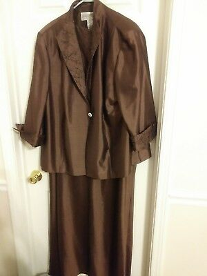 Formal Dress Plus Size 22 Chocolate Brown Floor Length