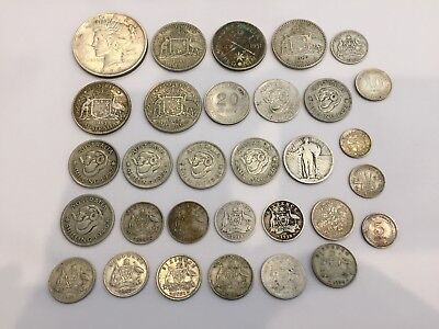 176 grams silver coins .925, .900, .500 - bulk - scrap or save USA, Australia