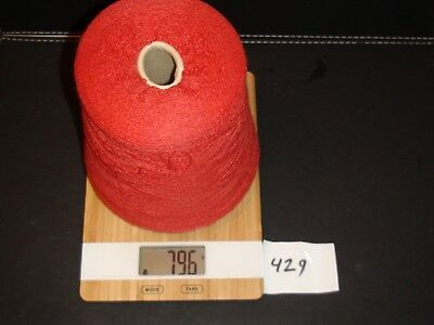 Knitting Machine Yarn On Cone  2 Ply Super Blend Red 796 Grams (429)