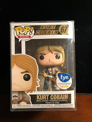 Kurt Cobain #67 FYE Exclusive Funko Pop W/ Protector And Free Ship