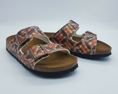 6d999cac07 PAPILLIO BY BIRKENSTOCK ARIZONA BF Caleidescope Brown 38 Narrow SOFT F/BED  BNWOT