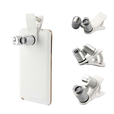 60X Zoom Mobile Phone Camera Optical LED UV Clip Magnifier Microscope Lens MZ