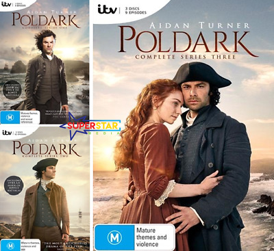 Poldark Series COMPLETE Season 1-3 (DVD, 9-Disc Set) NEW