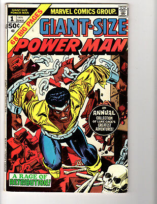 Giant-Size Power Man #1 ('75) FN (6.0) Kane! Great Bronze Age!