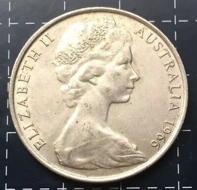 1966 Australian Round 50 Cent Coin - 80% Silver Rounded Fifty Cent *4