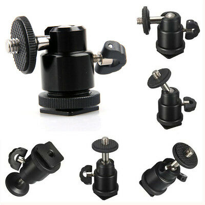 "Mini 1/4"" Tripod Screw to Flash Hot Shoe Adapter Mount Holder for Camera Cam"