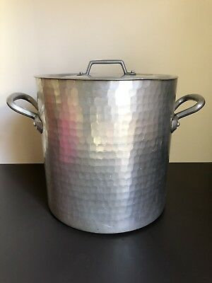 Hand Hammered Aluminium Large Stock POT* Made In FRANCE* Commercial Heavy Duty