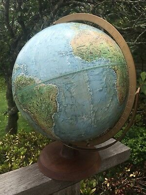 Will Post -Fabulous Large Vintage 1970s world globe Readers Digest