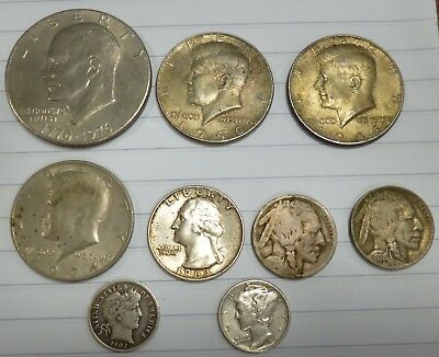 Job Lot Old Silver USA Coins