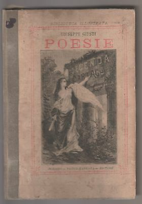 Poems by Giuseppe Righteous Illustrations Gallieni Carrara editore 1882