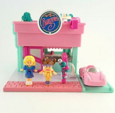 COMPLETE Polly Pocket DRIVE THRU BURGER STAND DRIVE IN 1994 Restaurant Balloons