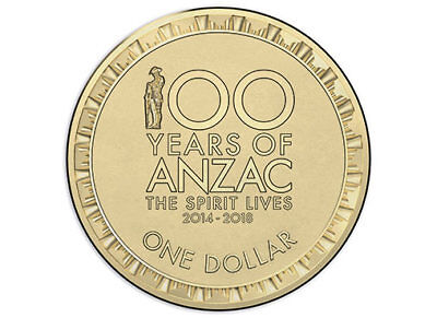 2018 100 Years of Anzac $1 coin from RAM Bag Uncirculated UNC